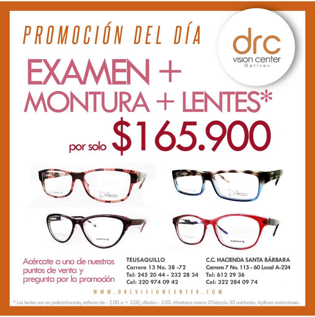 promo del dia examen-montura-lentes
